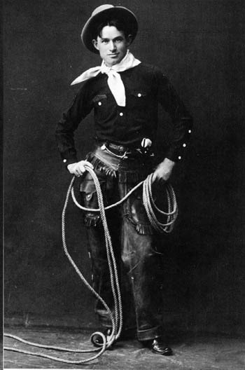 Will Rogers with Rope, Wikimedia Commons