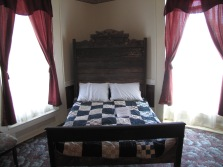 Period type bed upstairs in the Lloyd Tilghman House & Civil War Museum.